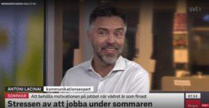 Antoni Lacinai i SVT morgonstudion